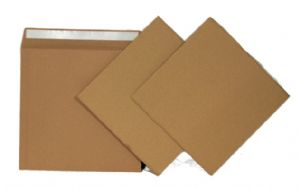 "10 High Quality 625 Micron Brown Board 12"" Record Mailer & 20 Stiffeners"